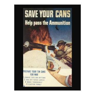 """Ahorre su guerra mundial de las latas 2 folleto 8.5"""" x 11"""""""