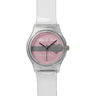 Ahorre su reloj especial de Bling May28th del rosa