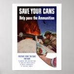 Ahorre sus latas -- Ayude a pasar la munición Impresiones