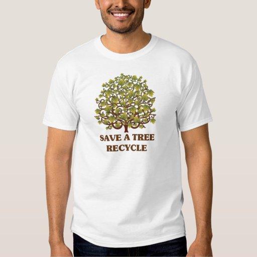 Ahorre un árbol camisas