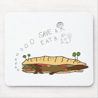 Ahorre un árbol comen un castor alfombrilla de ratón