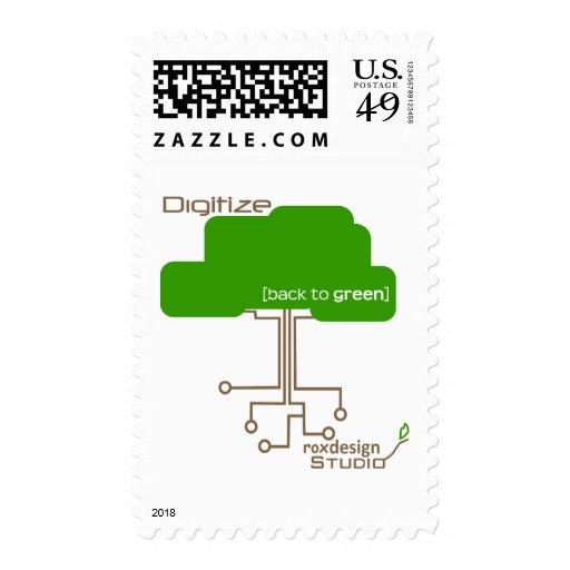 Ahorre un árbol - convierta a digital sello