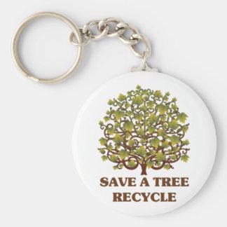 Ahorre un árbol llaveros personalizados