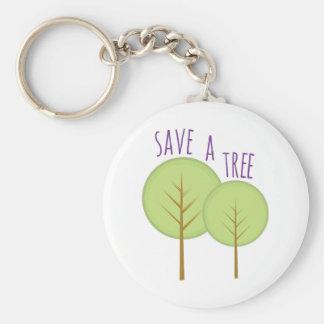Ahorre un árbol llavero personalizado