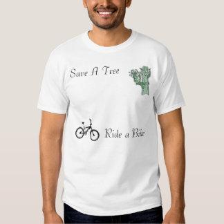 Ahorre un árbol, monte una bici camisas