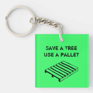 Ahorre un árbol, utilice un llavero de la platafor
