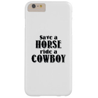 Ahorre un caballo funda barely there iPhone 6 plus
