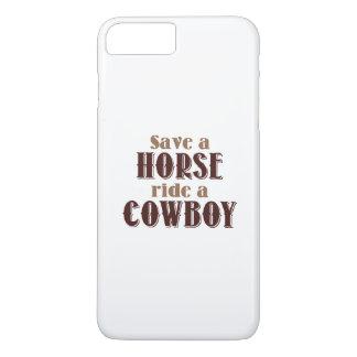 Ahorre un caballo funda iPhone 7 plus