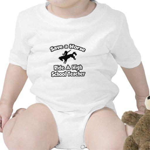 Ahorre un caballo, monte a un alto profesor de esc camiseta