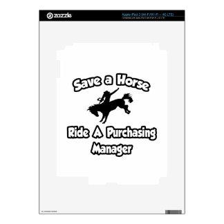 Ahorre un caballo, monte a un director de compras pegatina skin para iPad 3