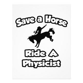 Ahorre un caballo. Monte a un físico Membrete