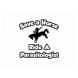 Ahorre un caballo, monte a un parasitólogo postales