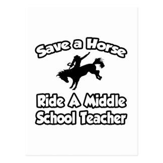 Ahorre un caballo, monte a un profesor de escuela postal