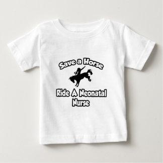 Ahorre un caballo, monte a una enfermera neonatal tshirts