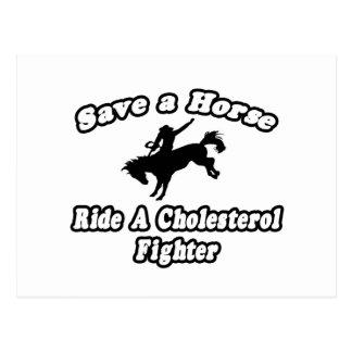 Ahorre un caballo, monte un combatiente del colest postal