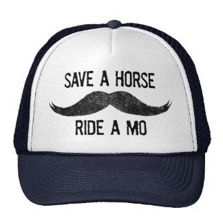 Ahorre un caballo - monte un MES Gorros Bordados