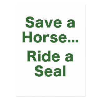 Ahorre un caballo… Monte un sello Tarjetas Postales