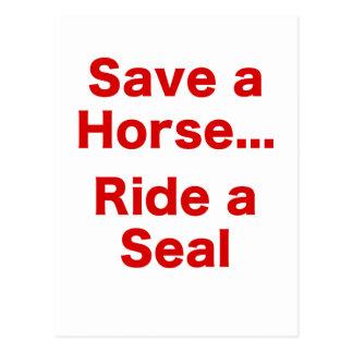 Ahorre un caballo… Monte un sello Postal