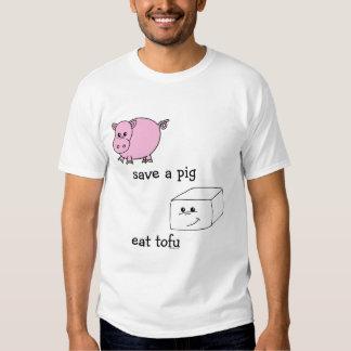 ahorre un cerdo comen el queso de soja remeras