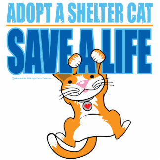 Ahorre un gato del refugio de la vida fotoescultura vertical