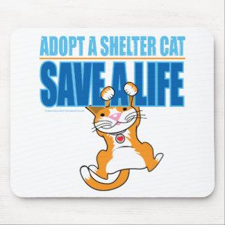 Ahorre un gato del refugio de la vida tapete de raton