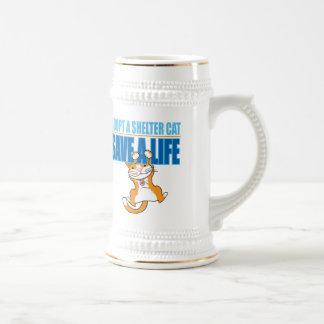 Ahorre un gato del refugio de la vida tazas de café
