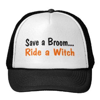 Ahorre un paseo de la escoba un negro del naranja  gorras de camionero