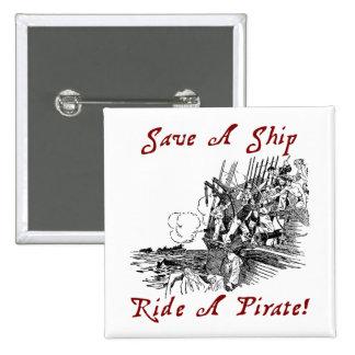 ¡Ahorre un paseo de la nave un pirata Pins