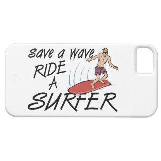 Ahorre un paseo de la onda una persona que funda para iPhone SE/5/5s