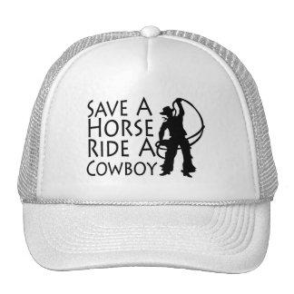 Ahorre un paseo del caballo un vaquero 2 gorro de camionero
