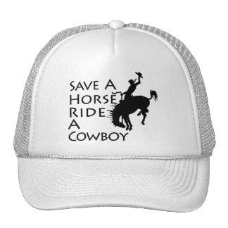 Ahorre un paseo del caballo un vaquero gorras