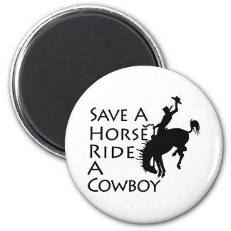 Ahorre un paseo del caballo un vaquero iman