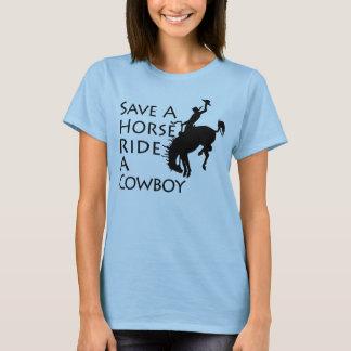 Ahorre un paseo del caballo un vaquero playera