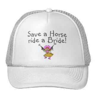 Ahorre un paseo del caballo una novia gorra
