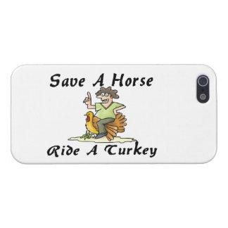 Ahorre un paseo del caballo una Turquía iPhone 5 Funda