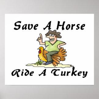 Ahorre un paseo del caballo una Turquía Póster