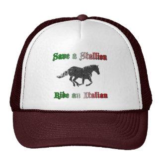Ahorre un paseo del semental un gorra italiano