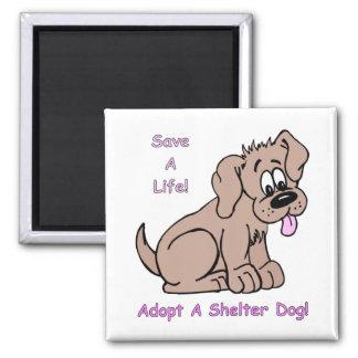 Ahorre un perro del Vida-Refugio Imán Cuadrado