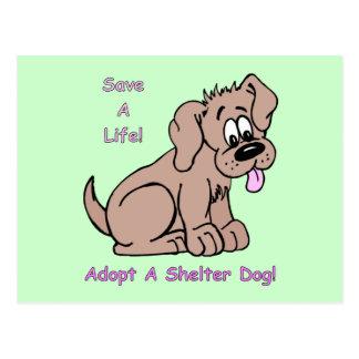 Ahorre un perro del Vida-Refugio Postales