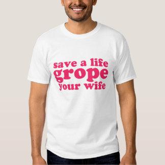Ahorre un tanteo de la vida su esposa playeras