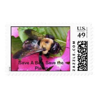 ¡Ahorre una abeja, ahorre el planeta! Franqueo