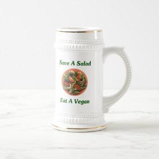 Ahorre una ensalada coma a un vegano taza de café