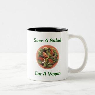 Ahorre una ensalada coma a un vegano tazas de café