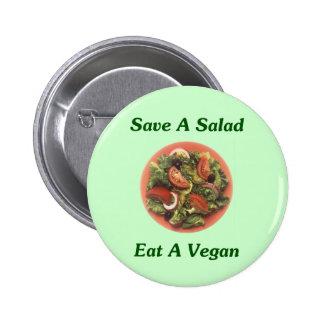 Ahorre una ensalada coma a un vegano pin