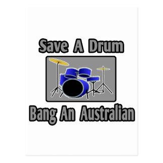 Ahorre una explosión del tambor… un australiano postales