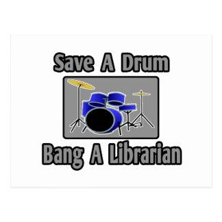 Ahorre una explosión del tambor… un bibliotecario tarjetas postales