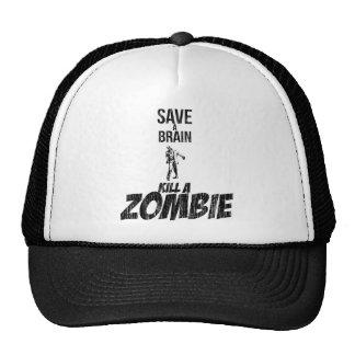 Ahorre una matanza del cerebro un zombi gorro de camionero
