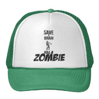 Ahorre una matanza del cerebro un zombi gorra