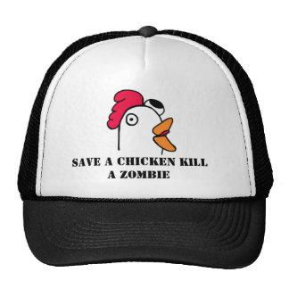 Ahorre una matanza del pollo un gorra del camioner