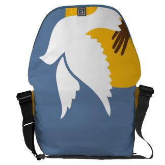Ahorre una paloma bolsas de mensajería
